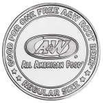 Aluminum AW-Rootbeer Coin