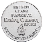 Aluminum Redeem-at-Dairy-Queen Coin