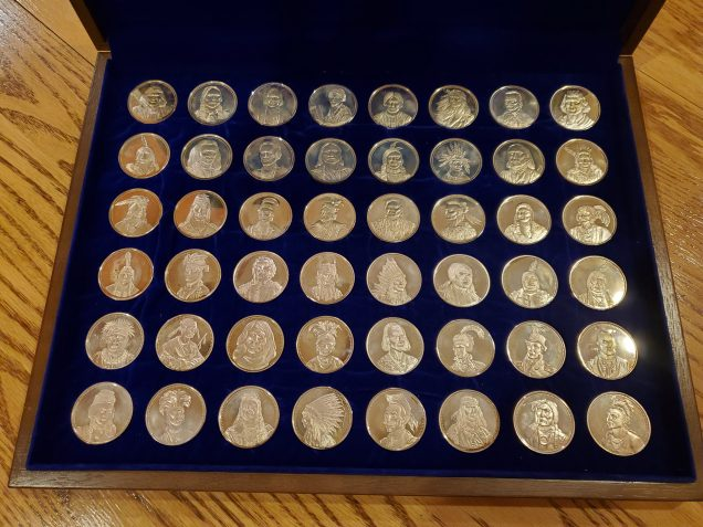 American Indian Chiefs collectible medals