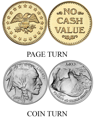 Coin Turn vs. Page Turn example