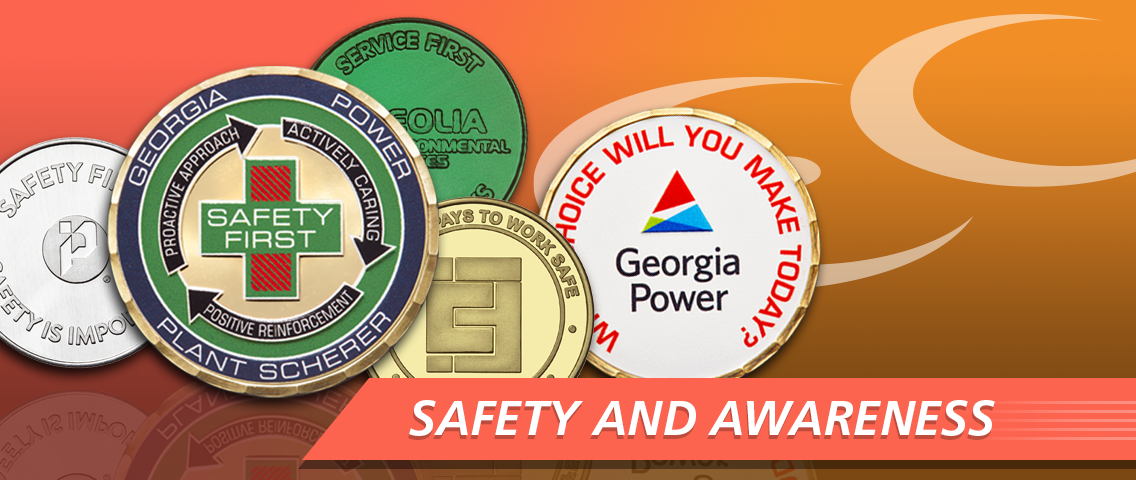 Safety and Awareness coins
